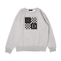 Checkered Crewneck Sweatshirt (Grey)