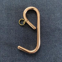 Copper e hook key holder