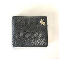 KOHSHIN SATOH パイソン二つ折り財布〔KM-008A〕(Black)