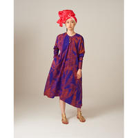 goto asato  Select Lightning Maxi Dress   〔LT-DR02Z〕 (02:濃い紫にオレンジの絞り柄)