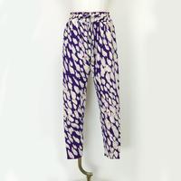 goto asato Special Slim Trousers〔HP-TR06Z〕(紫地に白の花びら赤点柄)