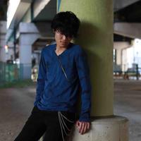 KOHSHIN SATOH  メンズ カットソー〔CT-076〕(Blue-48〕
