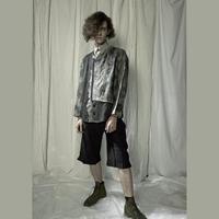 KOHSHIN SATOH メンズ ノーカラーコンビネーションジャケット 〔KT-801〕(Grey-48)