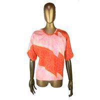 goto asato Shibori  Lightning T-shirt〔LT-TS03X〕 (02:赤とピの斜め麻絞り柄)