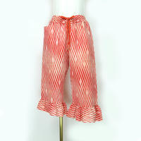 goto asato Silk Frilled Trousers 1 〔HP-TR01Z〕(赤地に白のよろけ縞とピ柄)