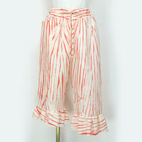 goto asato Silk Frilled Trousers 1 〔HP-TR01Z〕(オレンジの絞り)