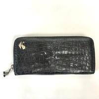 KOHSHIN SATOH クロコダイルラウンドファスナ―長財布〔KM-006B〕