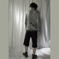 KOHSHIN SATOH メンズ レイヤードジャケット 〔CB-060〕(Grey-48)