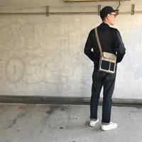 【お父さん世代人気No1】ブーザーバッグ -ライトグレー/マッティーブラック-