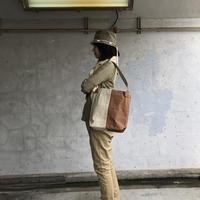 【使いやすいの声続々!】コヴェントリーバッグ M-ブラウン/サンドベージュ -