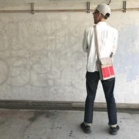 【お父さん世代人気No1】ブーザーバッグ -ライトグレー/コメットレッド-