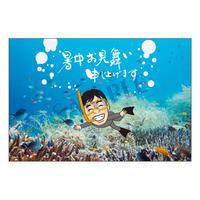 メッセージカード/季節の便り/15-0752(似顔絵ver)/1セット(10枚)