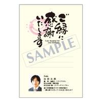 メッセージカード/プロフィール/ご挨拶状/20-0899/1セット(10枚)