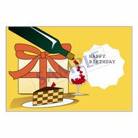 メッセージカード バースデー 14-0673 1セット(10枚)