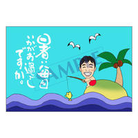 メッセージカード 季節の便り 16-0762(似顔絵ver) 1セット(10枚)