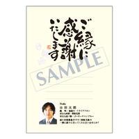 メッセージカード/プロフィール/ご挨拶状/20-0900/1セット(10枚)