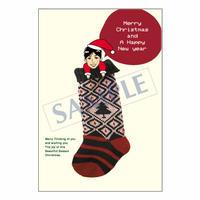 メッセージカード クリスマス 08-0365 1セット(10枚)