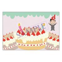 メッセージカード  バースデー  18-0869 1セット(10枚)