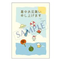 メッセージカード/季節の便り/14-0725/1セット(10枚)