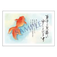 メッセージカード/暑中見舞い/21-0971/1セット(10枚)