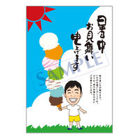 メッセージカード/季節の便り/15-0753(似顔絵ver)/1セット(10枚)