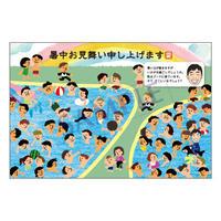 メッセージカード/季節の便り/19-0887(似顔絵ver)/1セット(10枚)