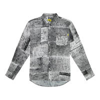 """iggy"" WET CEMENT BUTTON DOWN"