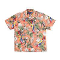 """""""ONLY NY"""" Parrot Aloha Shirt (Apricot)"""