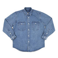 """ONLY NY"" Washed Cotton Work Shirt (Washed Denim)"