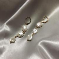 Freshwater keshi  pearl pierced