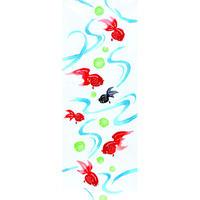 和布華 注染手ぬぐい 流水金魚(約33×約90センチ)