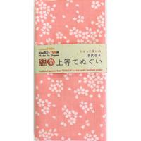 〔手拭壱本〕ちょっと長めの100センチ 上等手ぬぐい 桜散らし 柄(約33×約100㎝)