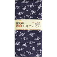 〔手拭壱本〕ちょっと長めの100センチ 上等手ぬぐい 折鶴柄(約33×約100㎝)