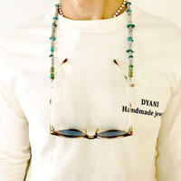 Sunglasses cord by DYANI (Turquoise, GrayShell)