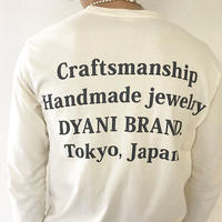 DYANI  OFFICIAL LONG SLEEVE TEE WHITE YELLOW BLACK LETTER