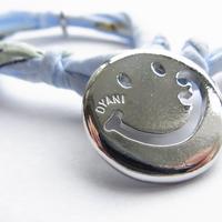 Smiley with wavy mouth Bracelet / Sky Blue Aloha