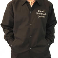 DYANI OFFICIAL COACHES JAKET BLACK BEG YELLOW LETTER