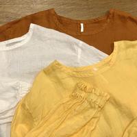 リネン染め ギャザリングカフシャツ 2021spring45 / ARTE POVERA