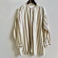 ドビーストライプ スタンドカラーオーバーサイズシャツ  P80155 / prit