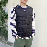 V NECK W-ZIP DOWN VEST  TAION-001Z / TAION
