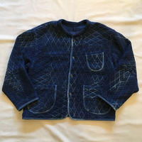 KENDO DIAMOND PATTERN PATCHWORK NO-COLLAR JACKET / Porter Classic