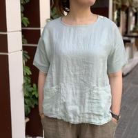 サマーリネン 半袖Tシャツ 02S-09 / 快晴堂