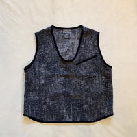 PEELED CLOTH PULLOVER VEST (BLACK)  / Porter Classic