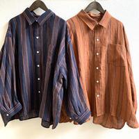 リネンストライプ レギュラーシャツ 2021spring01 / ARTE POVERA
