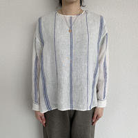 BACK OPENING CREW-NECK SHIRT / maison de soil