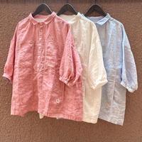 サマーリネンシャンブレー Workポケットgirl'sシャツ 12S-24 / 快晴堂