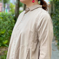 タイプロード チビ衿オーバーシャツ 7201T-004 / NATURAL LAUNDRY