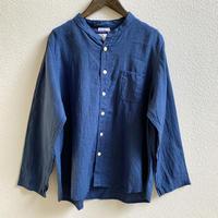 40ベルギーリネンスタンドカラーシャツ / Clip.tab