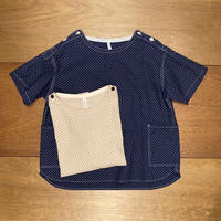 ドットプリント バスクシャツ 3212T-005 / CLIP.TAB