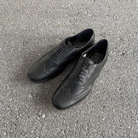 TR-004 WING TIP (BLACK) / TRAVELSHOES by chausser